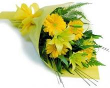 Yellow Lilies and Gerberas  Bouquet