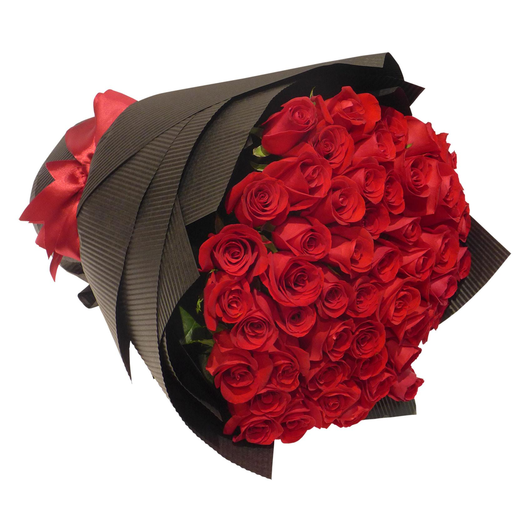 50 Red Roses Bouquet Online Gift And Flowers