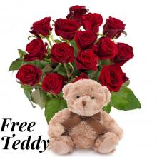 Red Roses,Chocolates and a Free Teddy Bear